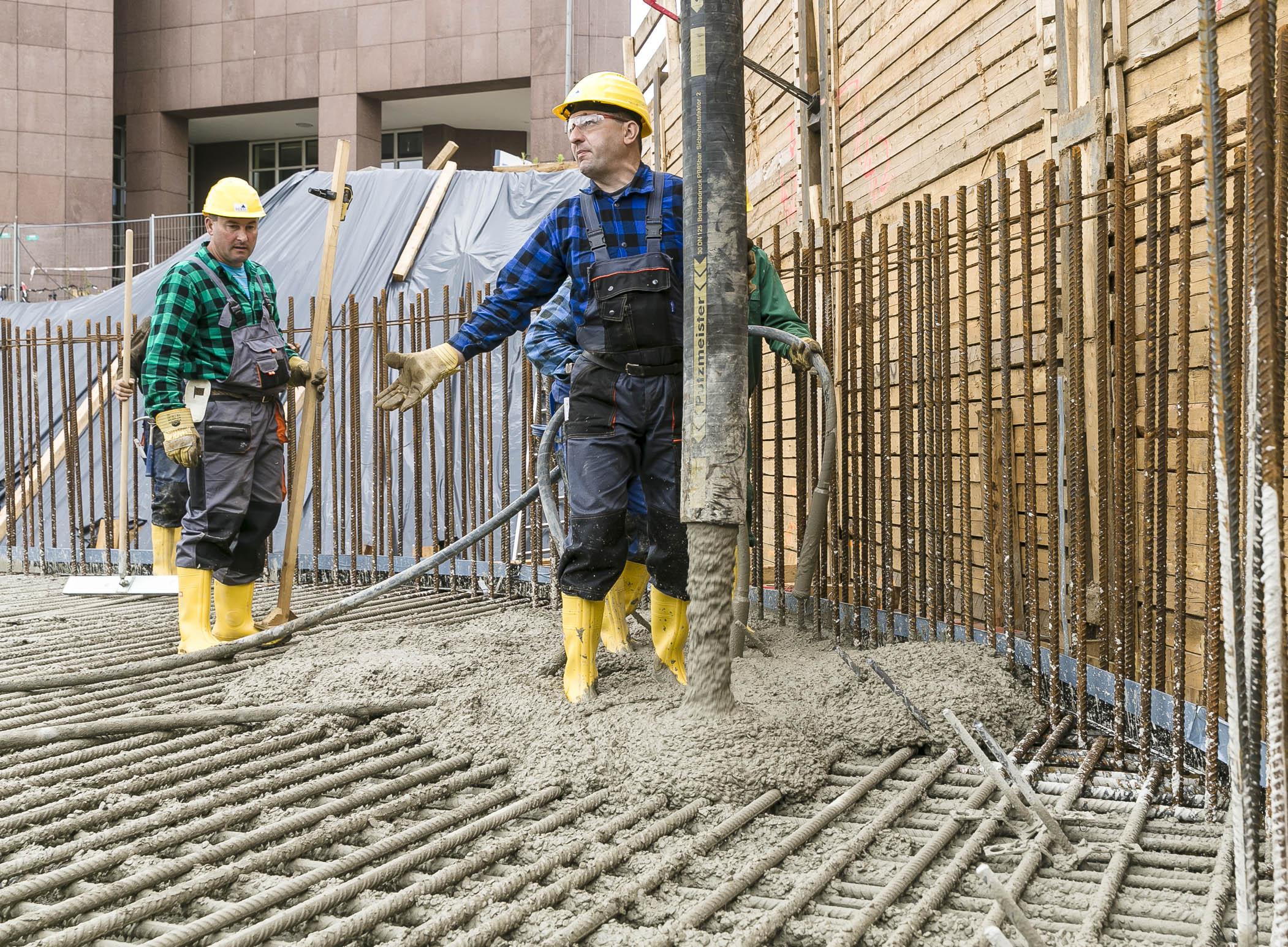 Fundering beton op locatie geleverd